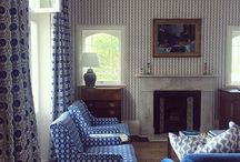 Blue and white home deco