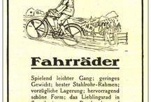 historische Fahrräder