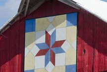 Barn quilts / Painted quilts on barns....why not?