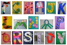 ABC/Alphabet/Letter Crafts / This board is devoted to sharing fun crafts and activities  for every letter of the alphabet. Perfect for Letter of the Week, Alphabet Books & more. / by Bernadette (Mom to 2 Posh Lil Divas)