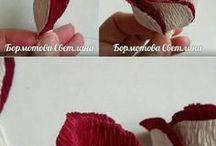 flor em papel crepom