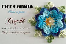 Flor de croche flor rasteira
