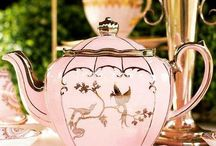 Tea/Coffee Pots, Cups & Plates.