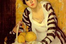 Portrait paintings (impressionism to expressionism/Fauve) / Portraits