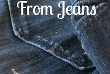 Remove paint from jeans