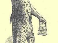 Fiskegud Dagon tatovering