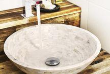 Mother of Pearl bathroom sinks