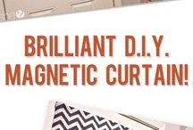 Screen door magnet curtians