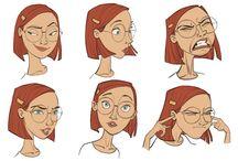 personaj animatie-expresii