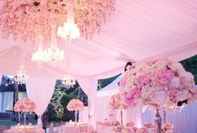 Pink Wedding Inspiration / Stunning pink flower creations