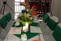 Alquiler para eventos en el Hotel Casa Pablo de la ciudad de Neiva - Huila, Colombia / Ofrecemos el servicio de alquiler de silleteria, Mesas, Tablones, Menaje, arreglo Floral, para festividades de 15 años, Bautizos, baby Shower, Primera comunión, Matrimonio...