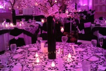 Table Decorations - Black & White
