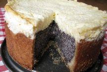 cheese cake et gâteau au pavot