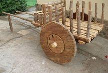 carretas de maderas