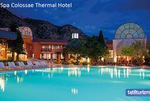 Spa Colossae Thermal Hotel / Pamukkale'nin travertenleri ve antik termal şehir Hierapolis kalıntılarının hemen yanı başında olan Spa Colossae Thermal Hotel; tarihi güzellikleriyle sizleri bekliyor.