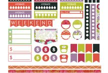 """Free Large Happy Planner Printable Planner Stickers (8.5""""x11"""")"""