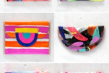 colorful desk