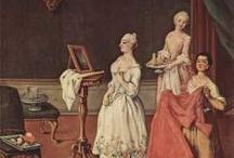 XVIII robes des dames / XVIII wiek suknie damskie/18th century ladies
