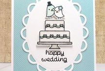 Lawn Fawn - Happy Wedding - Greeting Cards
