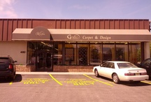 Our Store / G. Fried Carpet & Design - outside shot of our building, and inside shots of our beautiful 7000 square foot showroom.
