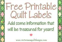 Labels for quilts