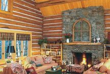 log fire cabin