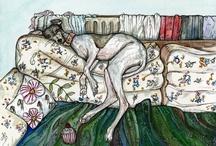 Greyhound Art Elle J. Wilson