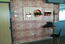I did it my way... / Self-adhesive wall printing and wall pots...