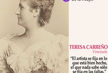 Mujeres que inspiran / Mujeres que desafiaron o desafían las convenciones y persiguen sus ideales.