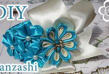 kanzashi / kanzshi a jiné květiny z látky