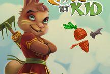 Carott' Et Kid / Jeu à butin - Vous devez collectionner les carottes et devenir Maître du Jardin Magique