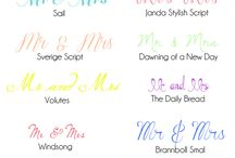 Fonts Wedding / #fonts #wedding #mariage #policesdecaractères