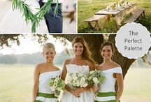 Shades of Green Wedding Trends / All wedding details featuring many shades of Green!