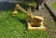 Wooden Toys / All of our Toys are Handmade from Recycled NZ Native woods and Pine, with the exception of our digger, which we build from Tanalized Timber.