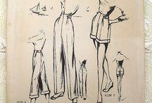 Techniczny rysunek / Odzież