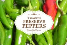 Preserving red peppers etc
