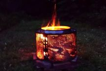 Fire Pits & Places - Repurposed Creations / DIY fire pits and fireplace creations - especially outdoors and especially utilizing repurposed & upcycled materials!