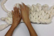 tejido con las manos