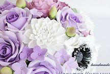 глина, фарфор, цветы