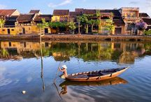 Peaceful Hoai River in the ancient town of Hoi An /  #HoaiRiver is a tributary of the Thu Bon River running through Hoi An. It is considered a symbol of the old town. The peaceful little river is also associated with the livelihoods of many local residents.