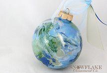 Peace on Earth Glass Ornament