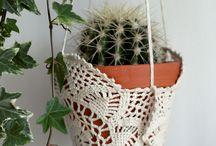 Rajutan pot bunga
