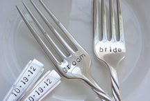 Bride & groom cutlery