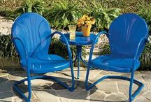 Outdoor Iron Furniture, Painted