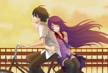 Monogatari series / Pervert Araragi and tsundere Senjougahara. They're perfect couple.