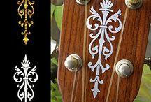 "Symmetry / inlay sticker ""Symmetry"" guitar/ukulele decals"