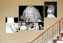 Wedding pic gallery wall