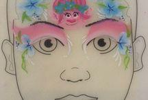 Trolls Poppy Face paint