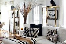 Black and white interiors and carpets