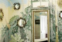 Shabby Powder Rooms and Tubs